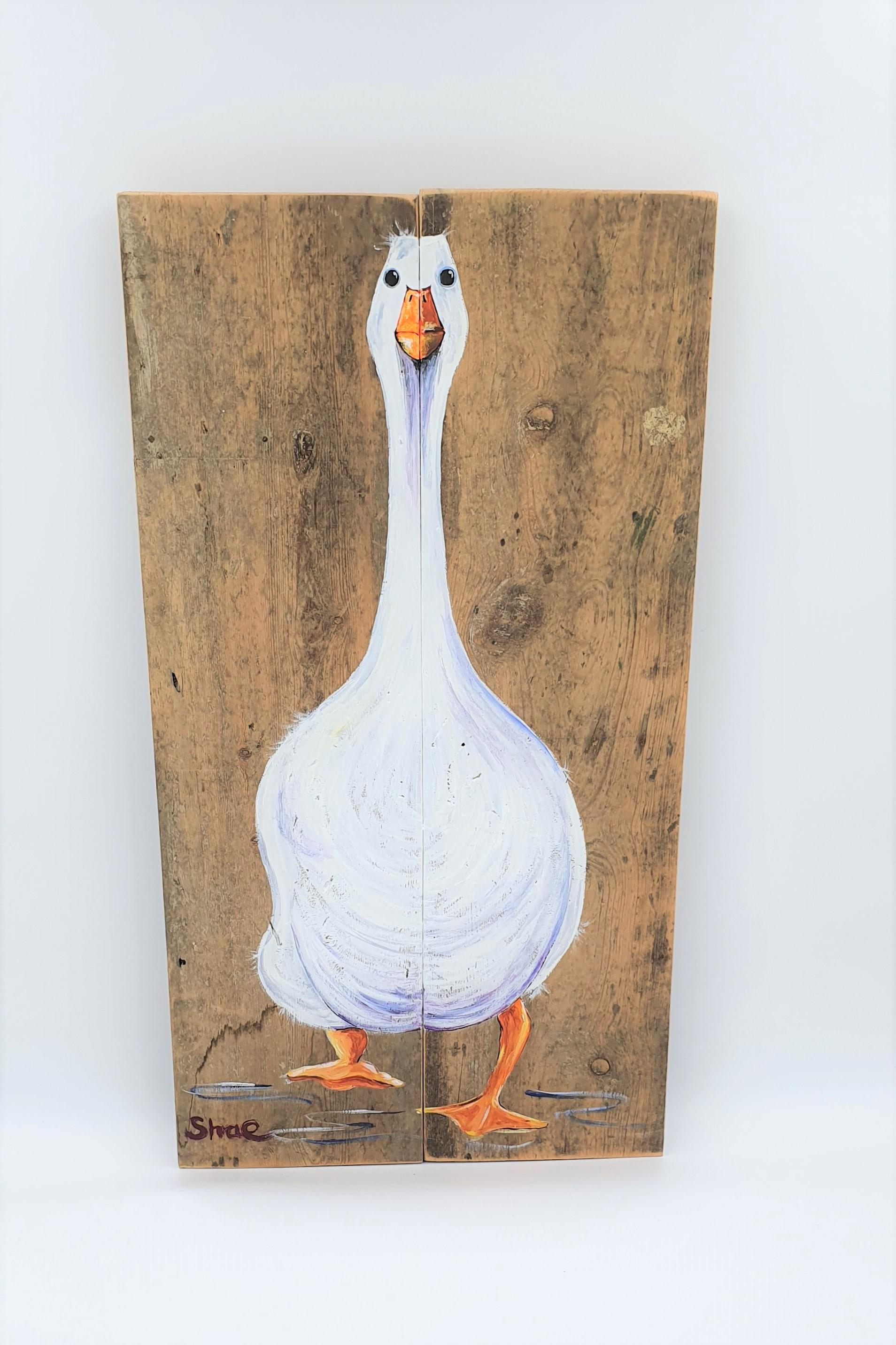 Shae Morris - Gladys goose on light wood