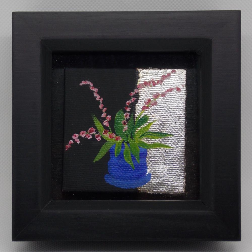 Carole White - Blue Vase Pink Blooms