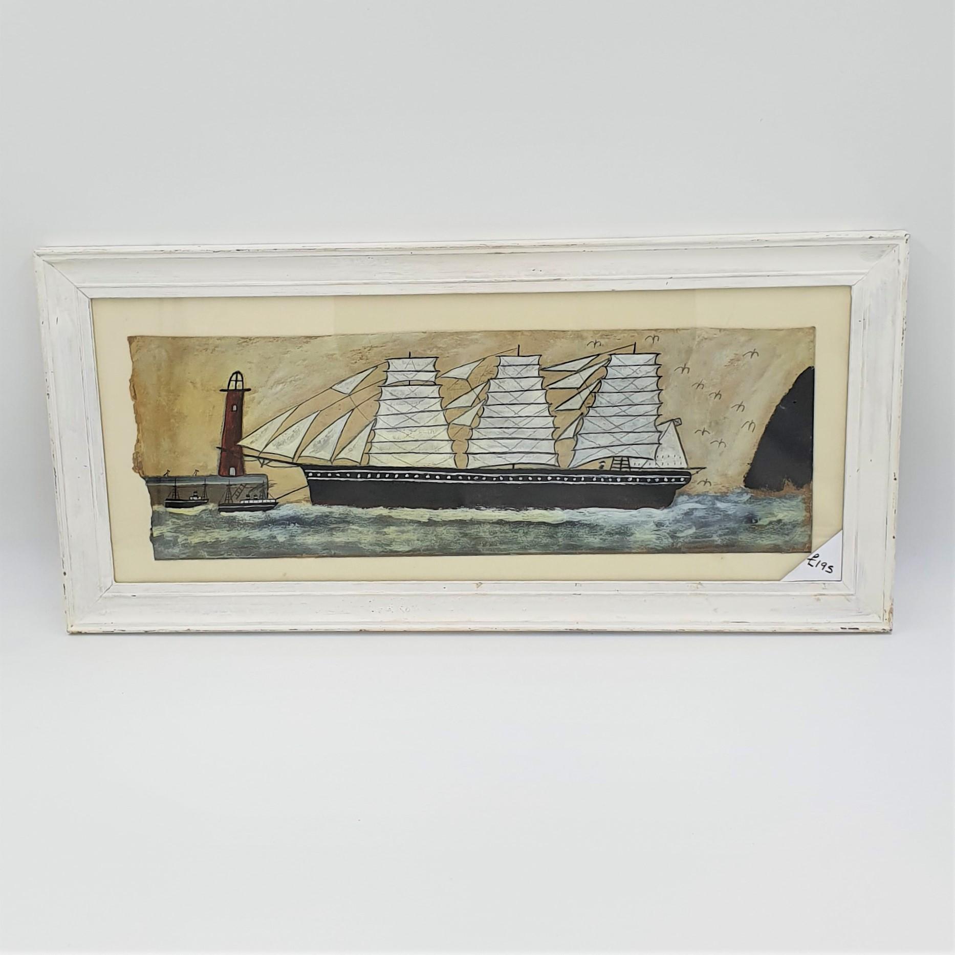 Max Wildman - Full rigged ship entering port