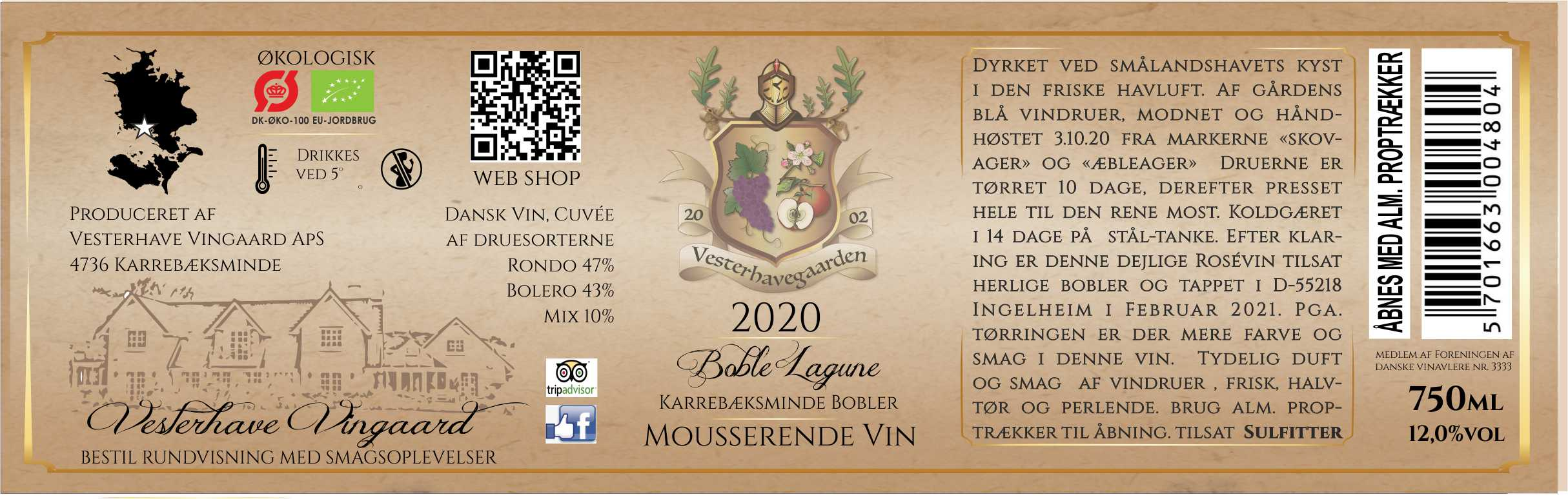 ROSÉVIN, BOBLE LAGUNE, 12%, 75cl, 2020