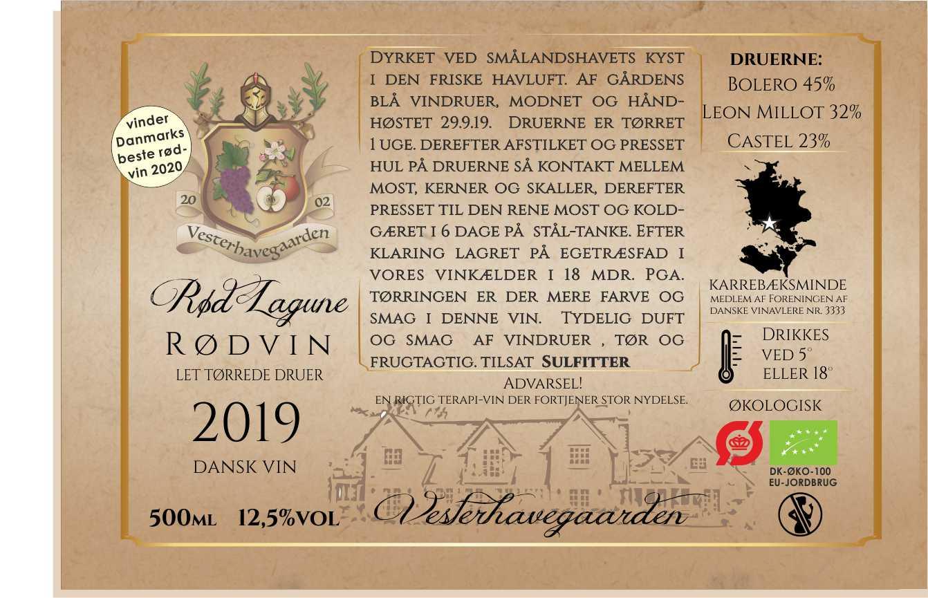 RØDVIN, RØD LAGUNE, 2019, 50cl