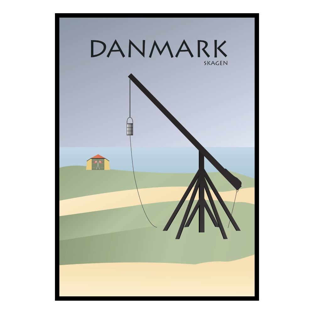 BILLEDE 30x42cm, Skagen Vippefyr