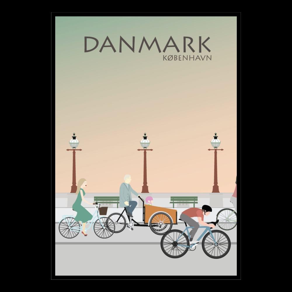 BILLEDE 30x42cm, København cykler