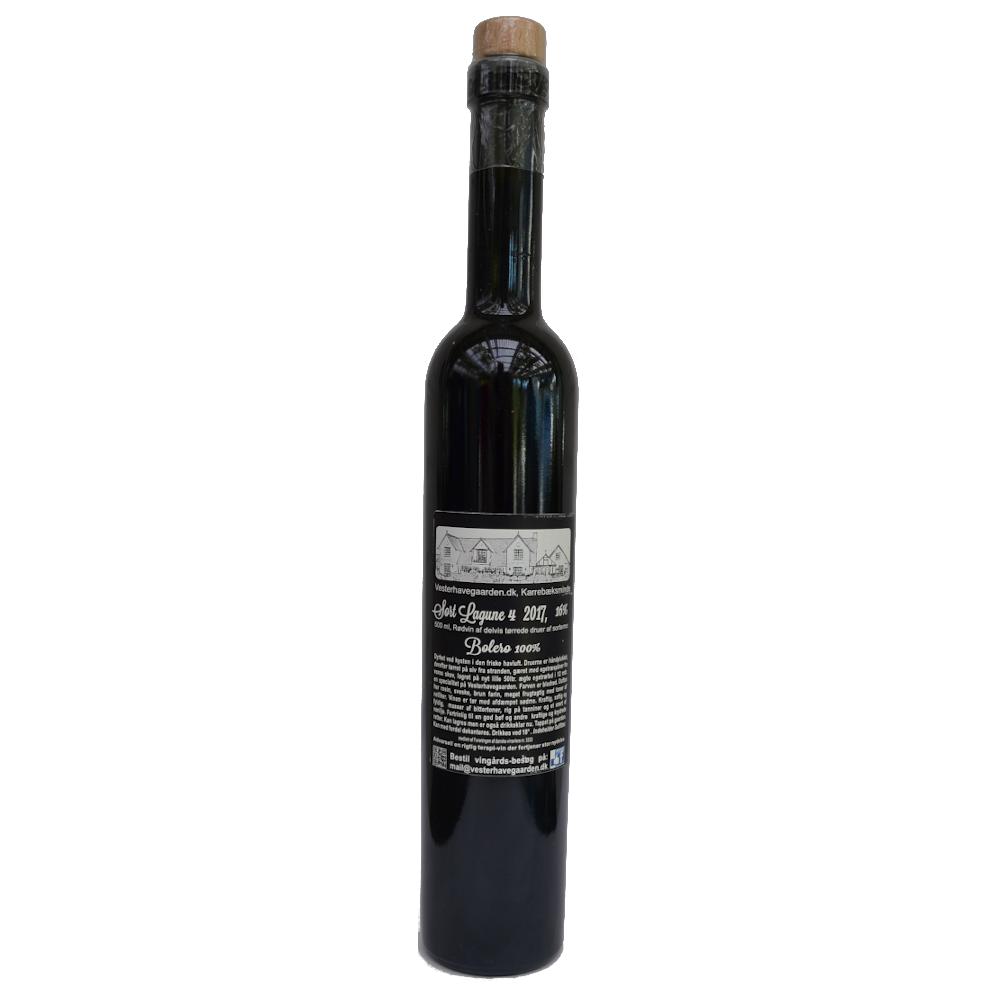 Rødvin, Sort Lagune 4. 2017, 16% Alc..   500ml,
