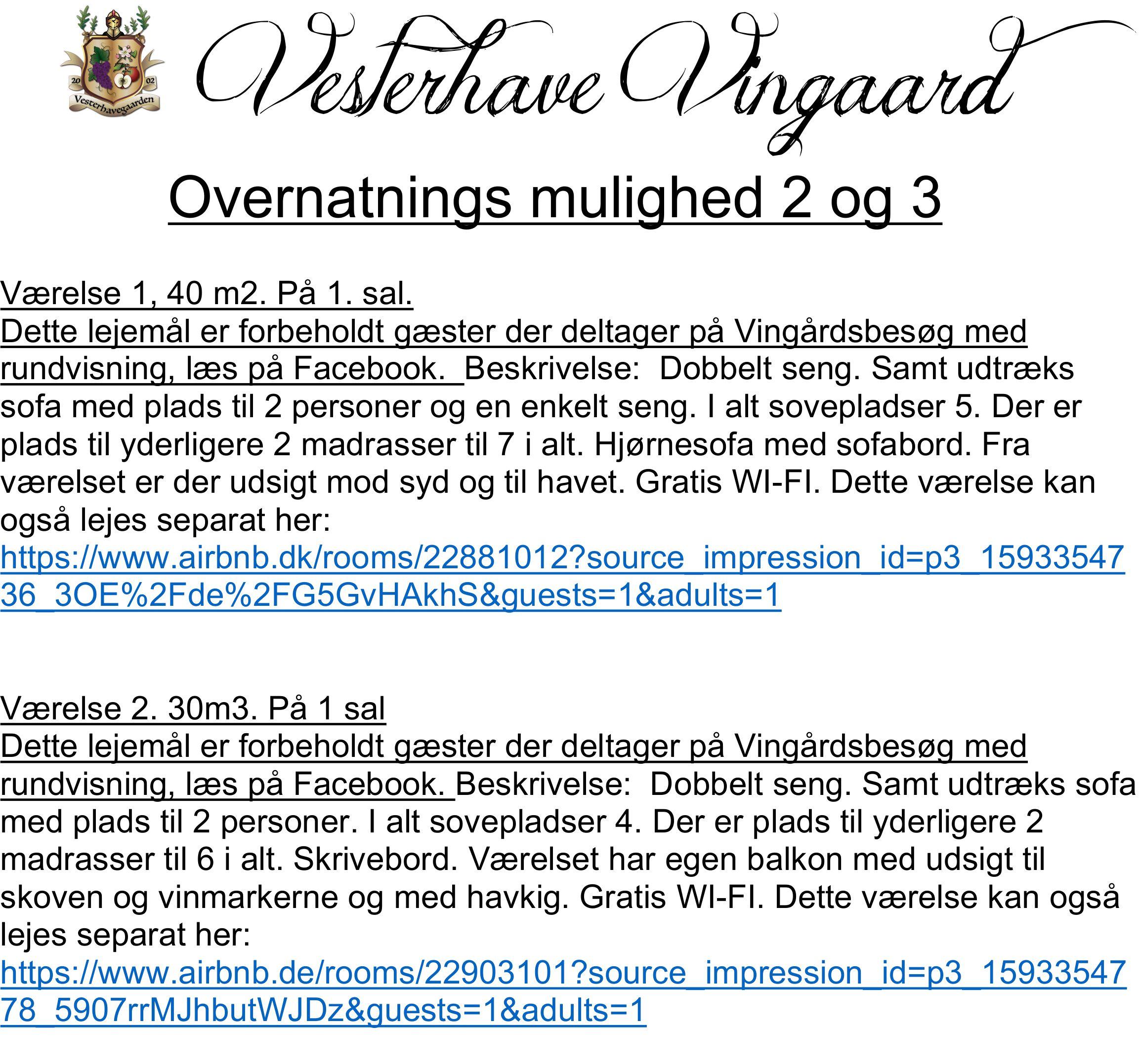 VINGÅRDSBESØG MED RUNDVISNING 30.10.21 kl 15