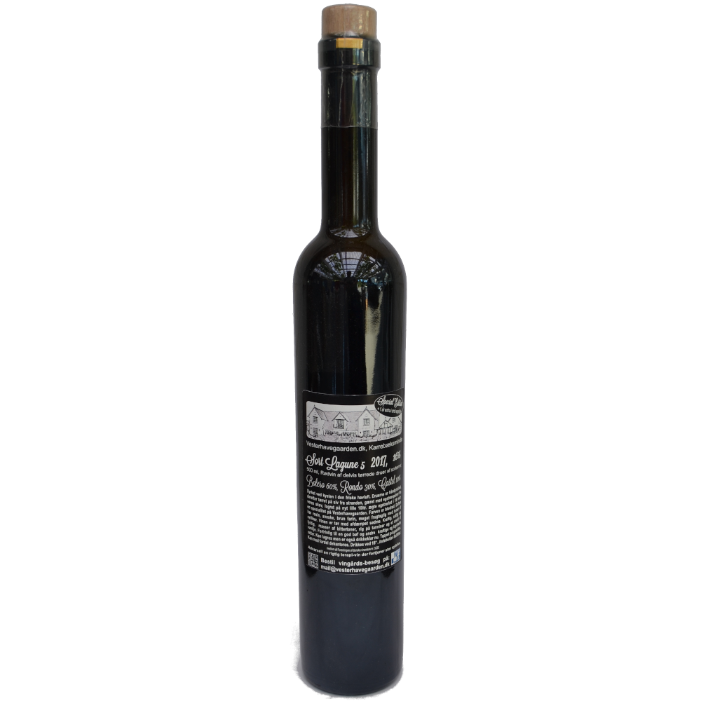Rødvin, Sort Lagune 5. 2017, 16% Alc..   500ml