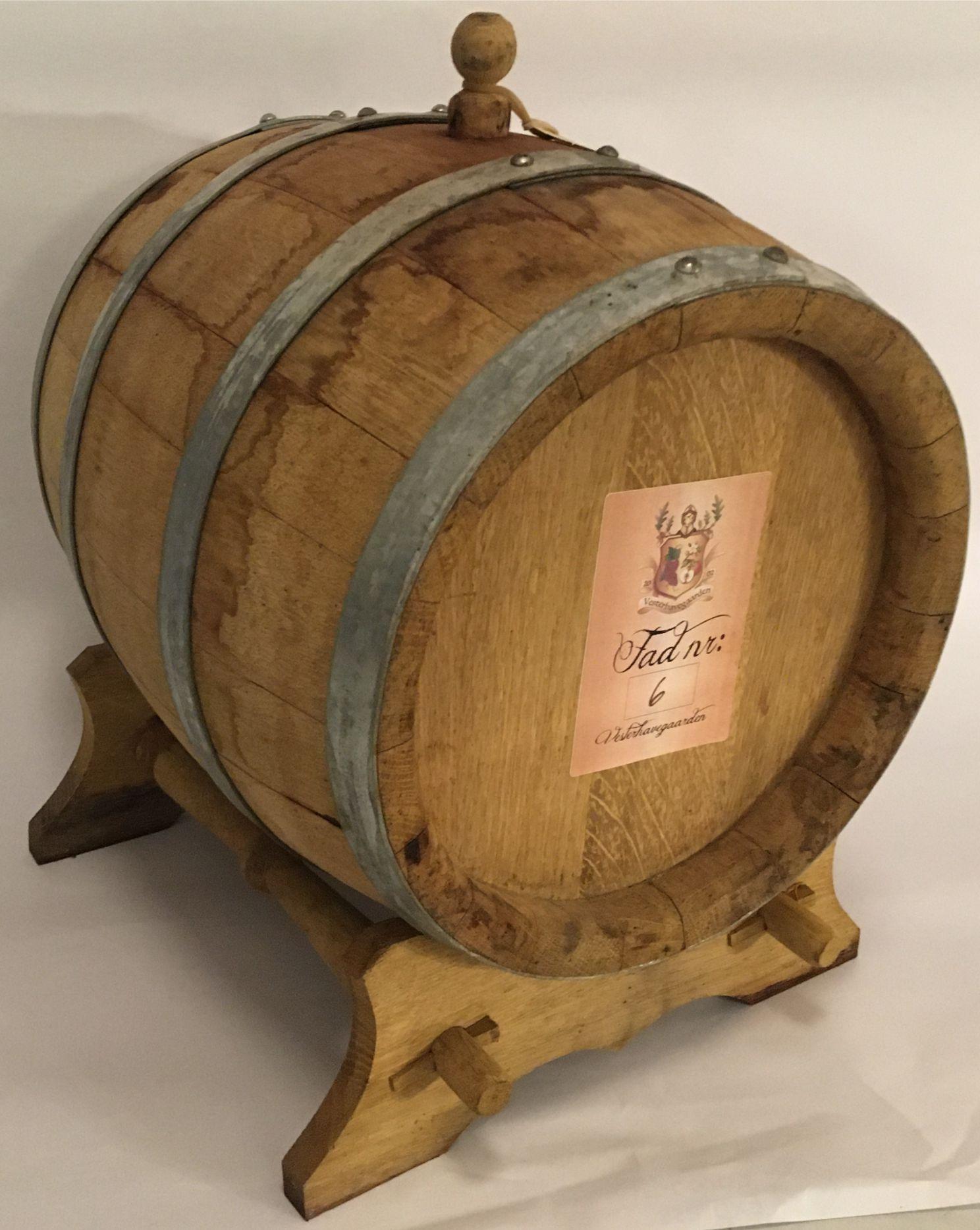 DRAM, EGETRÆS FAD 5 ltr Brandy, 1 år gl