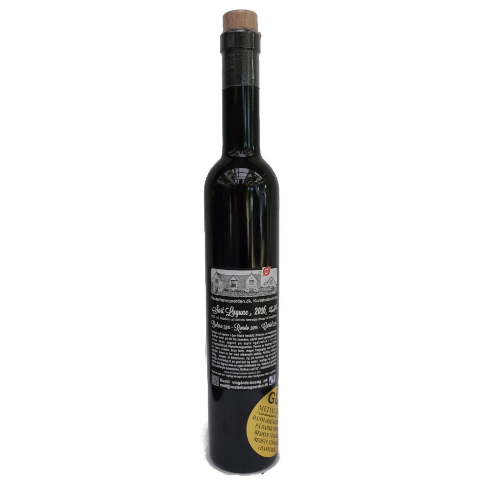 Rødvin, Sort Lagune. 2016, 15,5% Alc..   500ml,