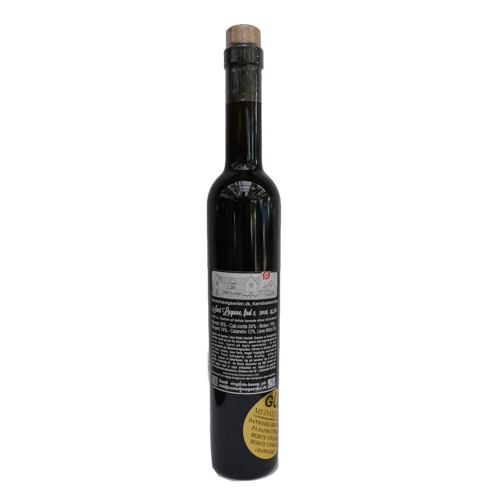 Rødvin, Sort Lagune 2.  2016, 15,5% Alc..   500ml,