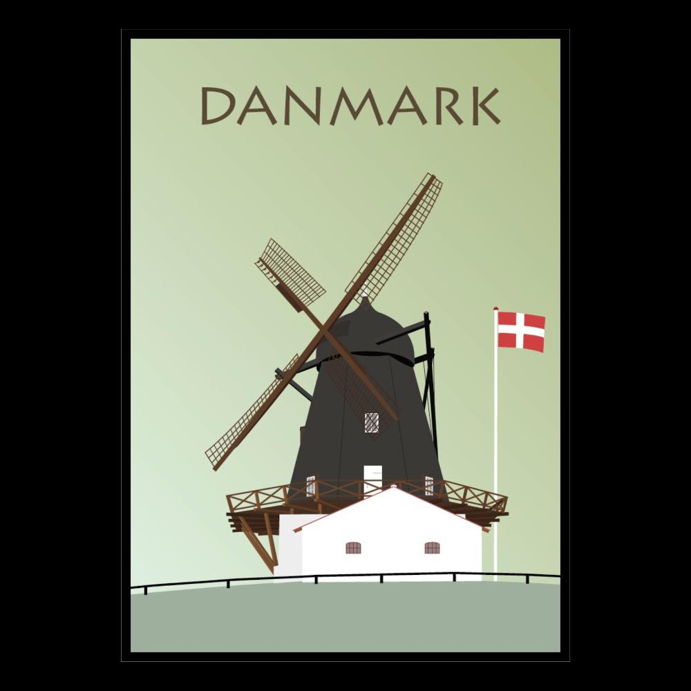 BILLEDE 30x42cm, Dansk Mølle