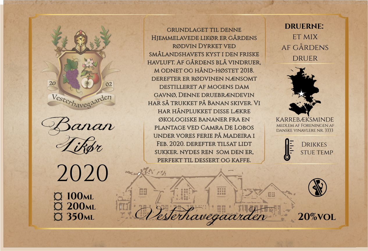 LIKØR, BANAN, 2020, 200ml, 20%