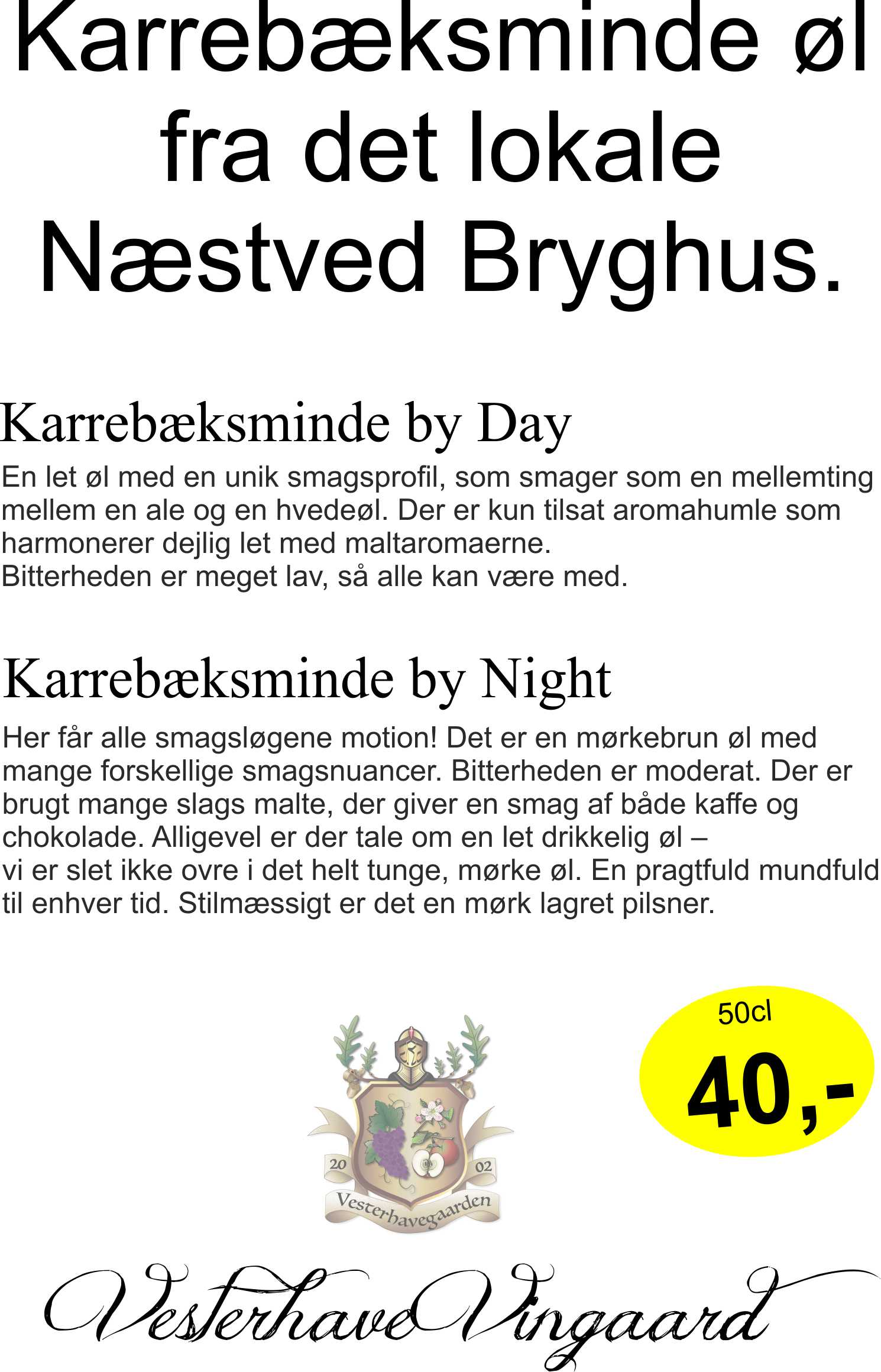 ØL KARREBÆKSMINDE By Night, 50cl