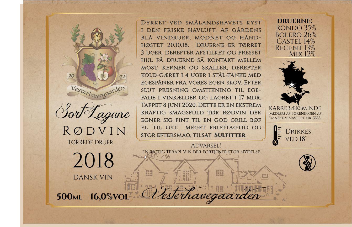 RØDVIN, SORT LAGUNE, 2018, 50cl