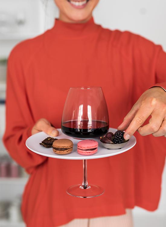 HÅND BAKKE t. vin og kaffe, hvid, 1 stk