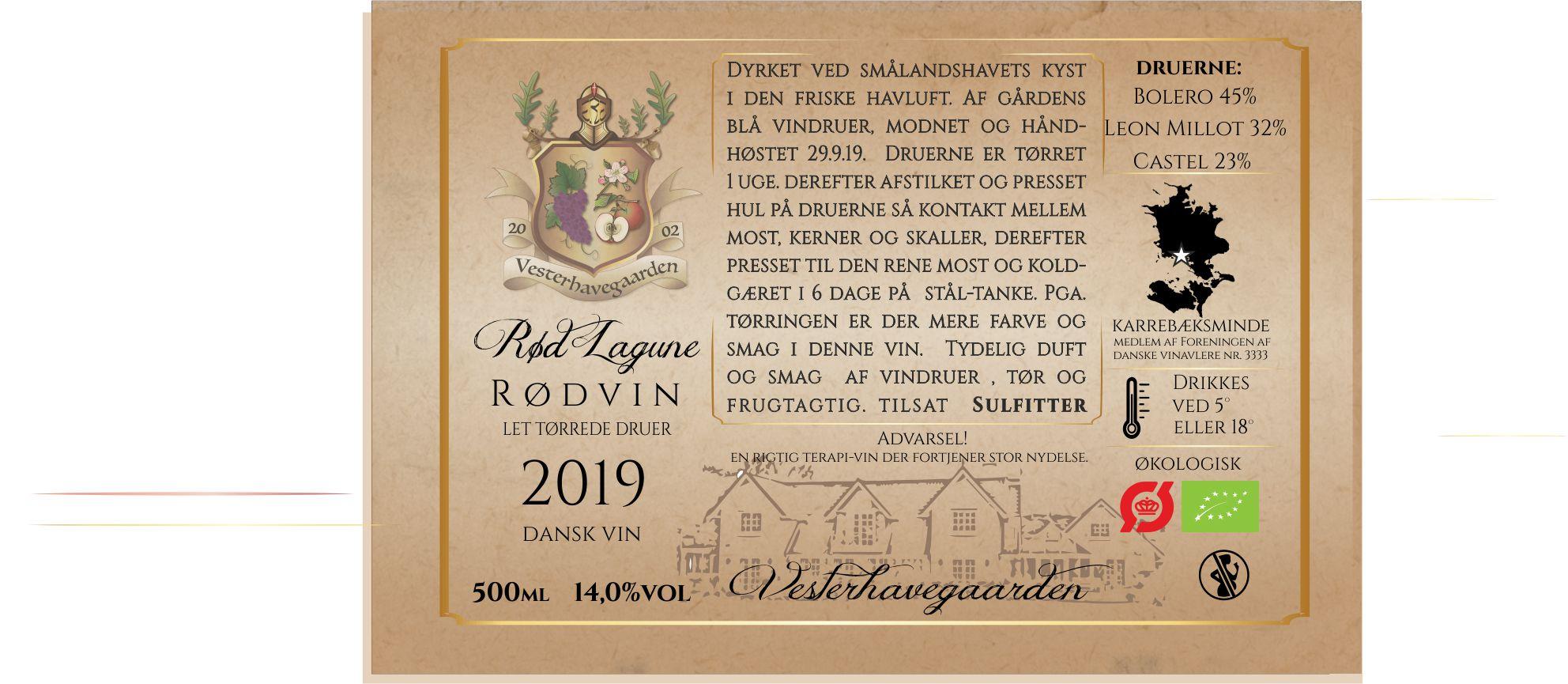 RØDVIN, RØD LAGUNE 1, 2019, 50cl