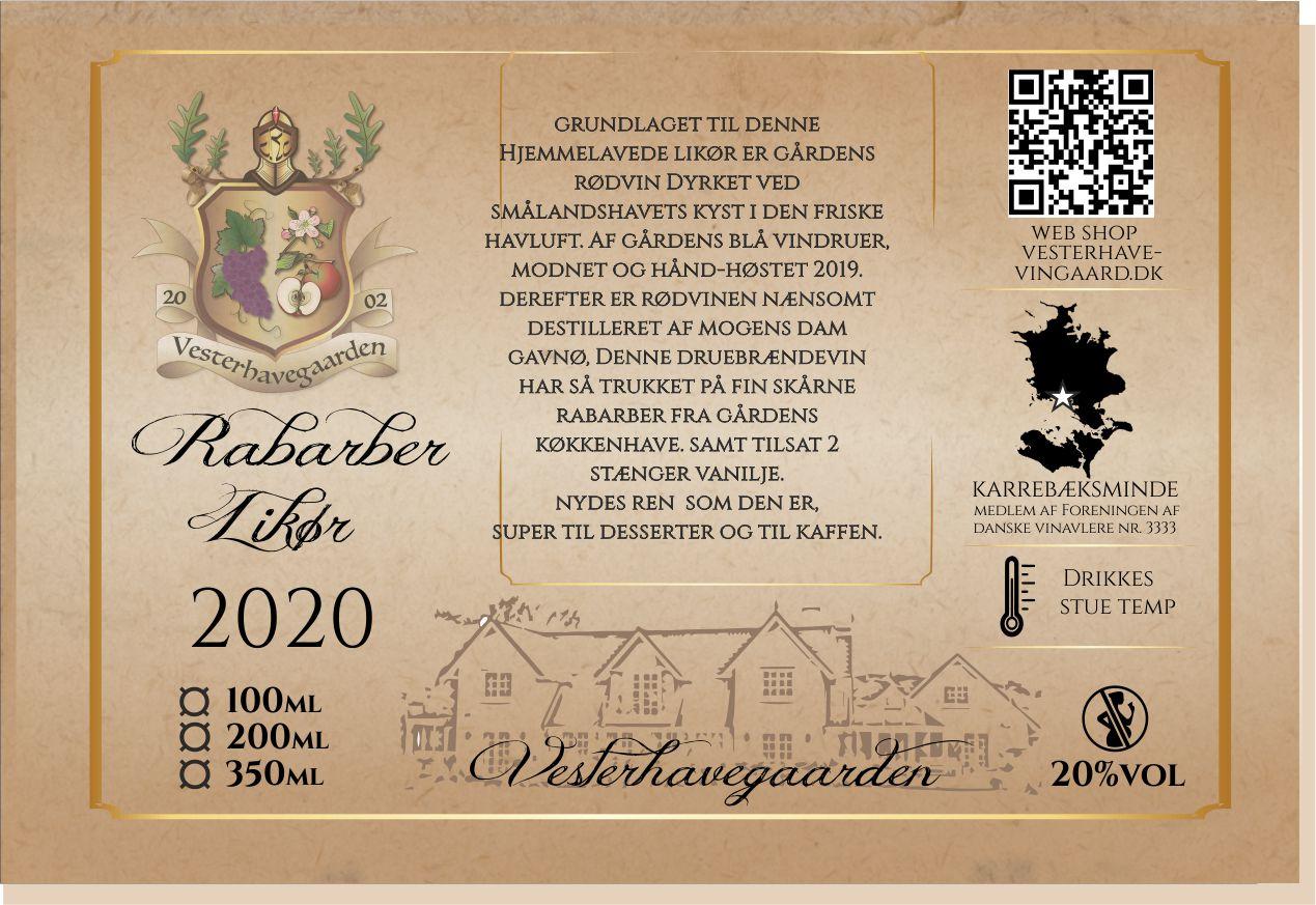 LIKØR, RABARBER, 200ml, 20%