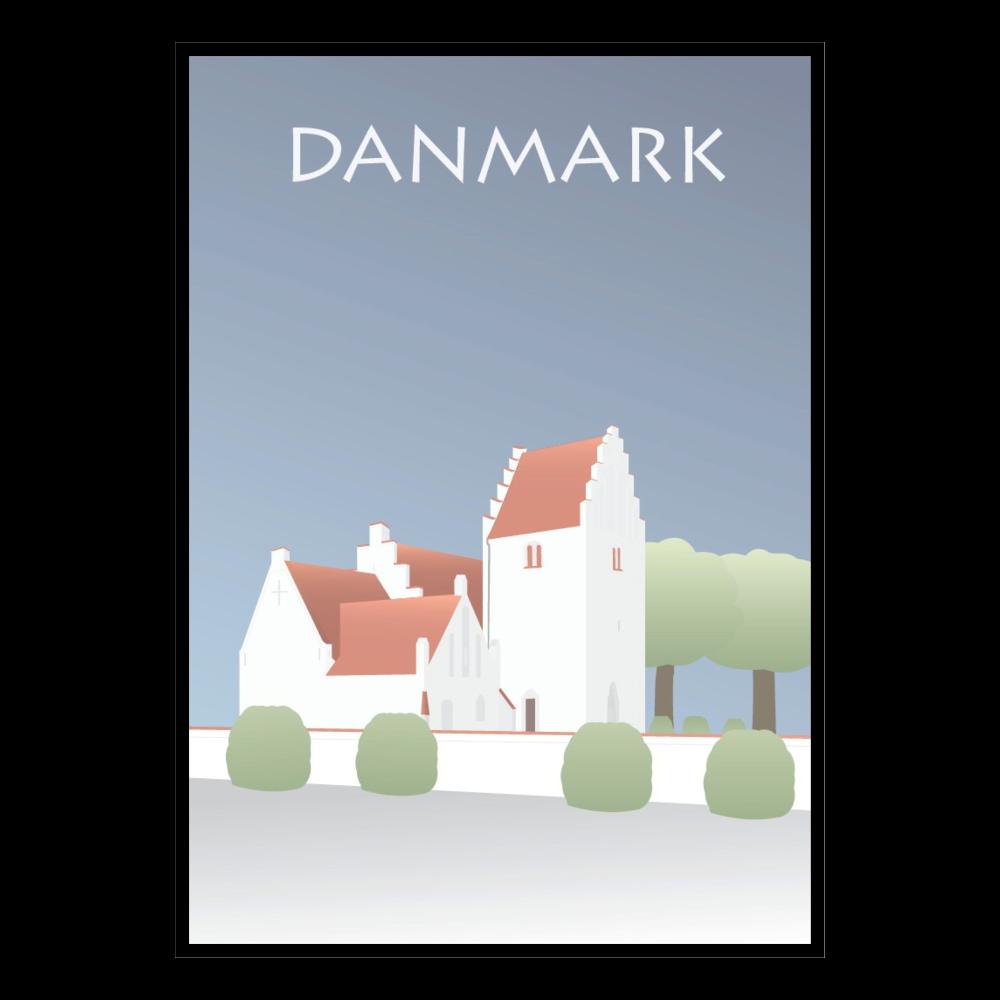 BILLEDE 30x42cm, Dansk Kirke