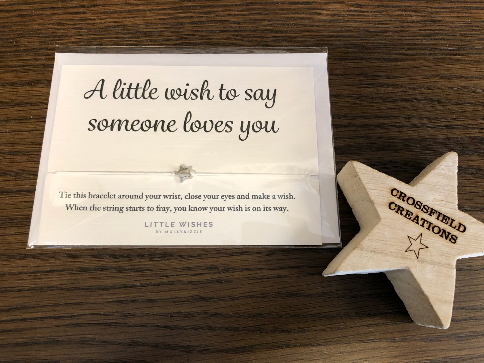 Someone loves you wish bracelet