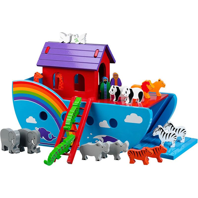 Lanka Kade Large Rainbow Wooden Ark