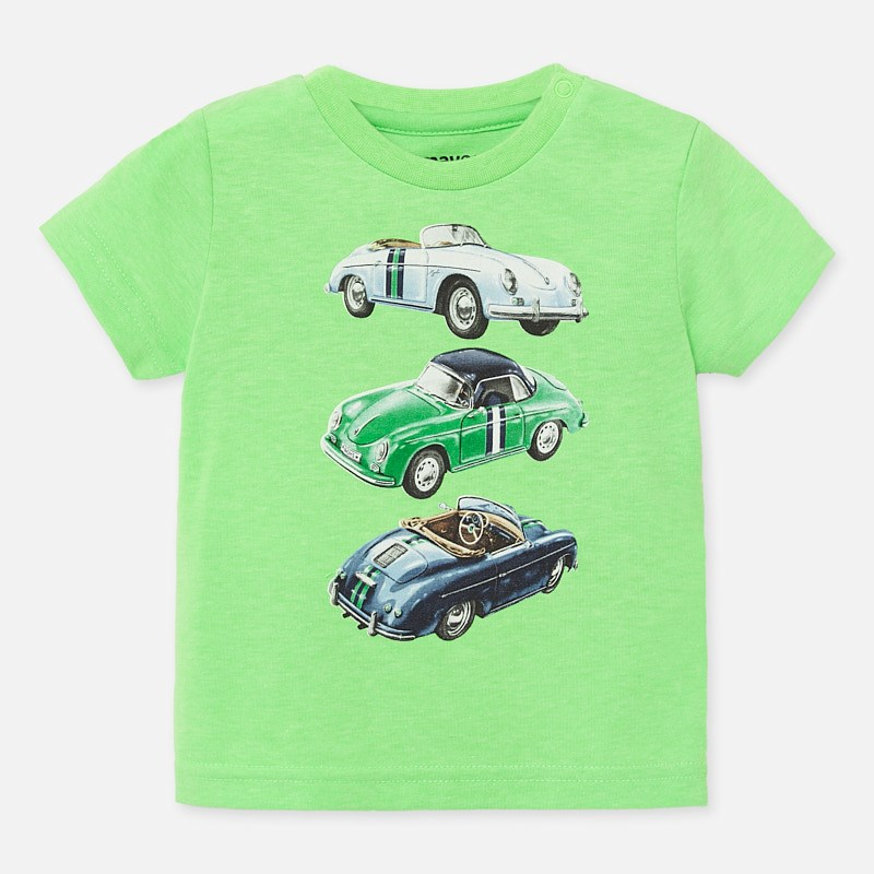 Mayoral T-shirt Apple Green With Car Design (1039)
