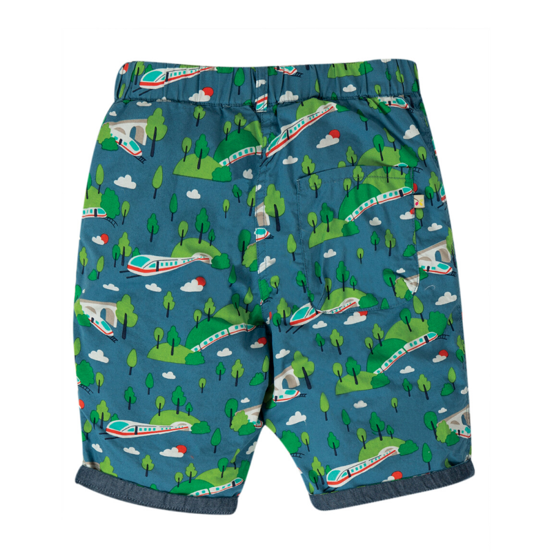 NOW £16 Frugi Ralph Reversible Short - Bullet Train