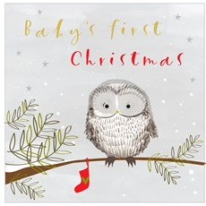 Think Of Me Baby's First Christmas Card