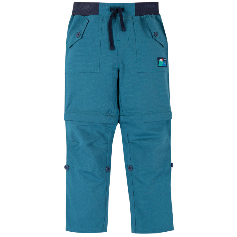 NOW £24.50 Frugi Tyler Ripstop Combats - Steely Blue