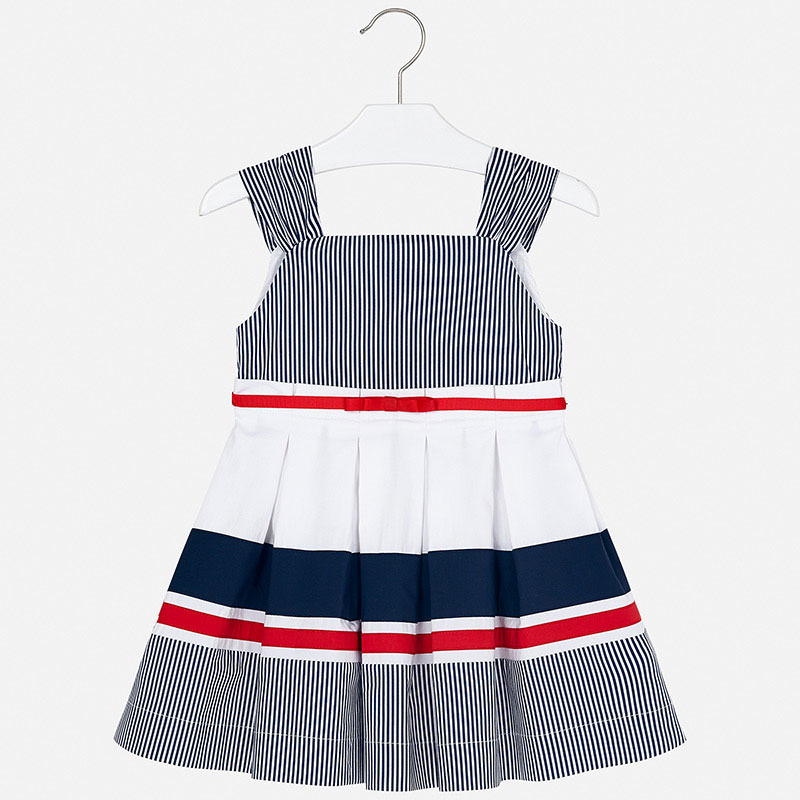 Mayoral Striped Dress Navy (3937)