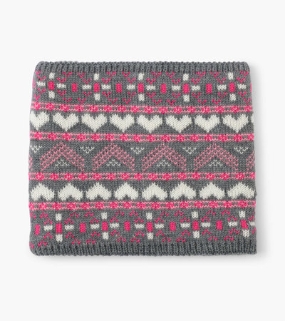 Hatley Winter Hearts Fleece Lined Neck Warmer
