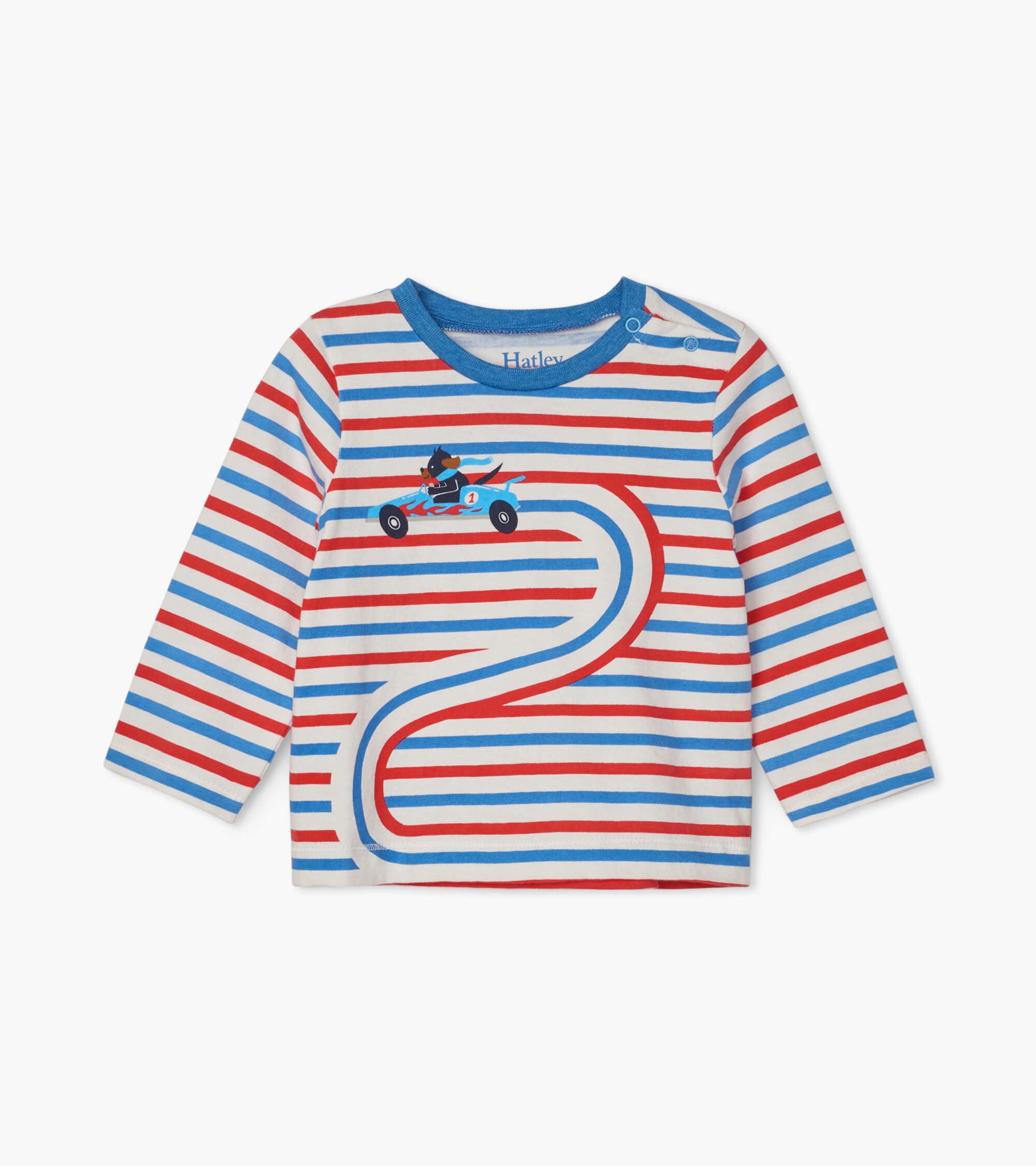 SALE £16.00 Hatley Race Car Doggy Long Sleeve Baby Tee (was £20.00)