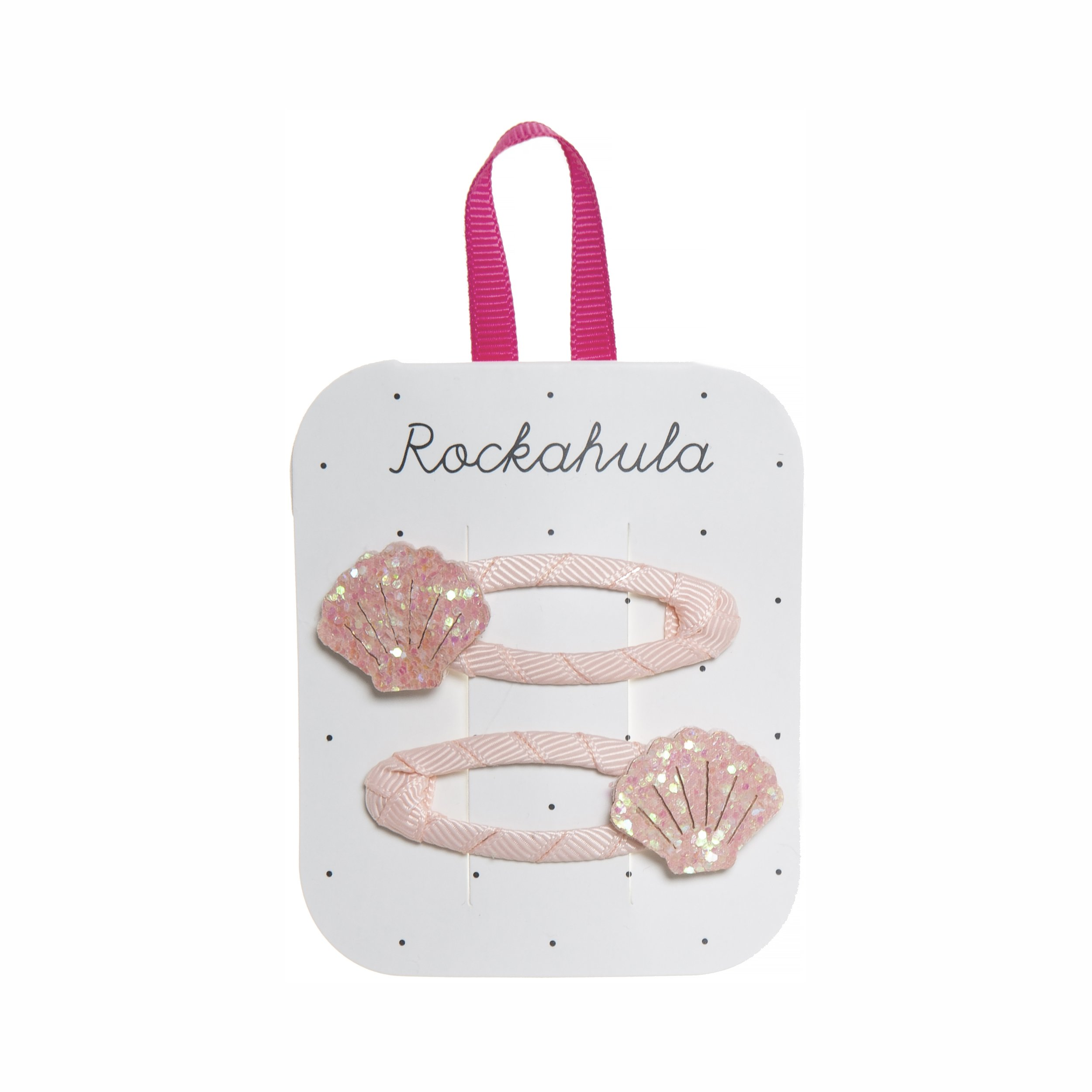 Rockahula Shimmer Shell Clips - Pink