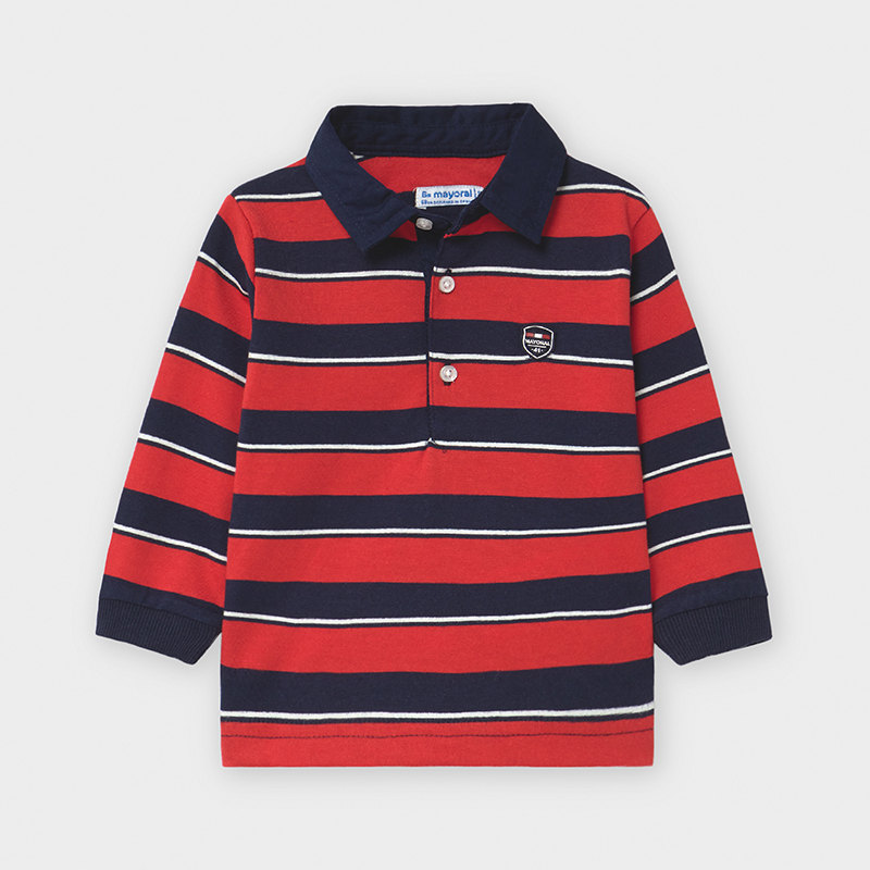 Mayoral Polo Shirt-Red & Navy (2123)