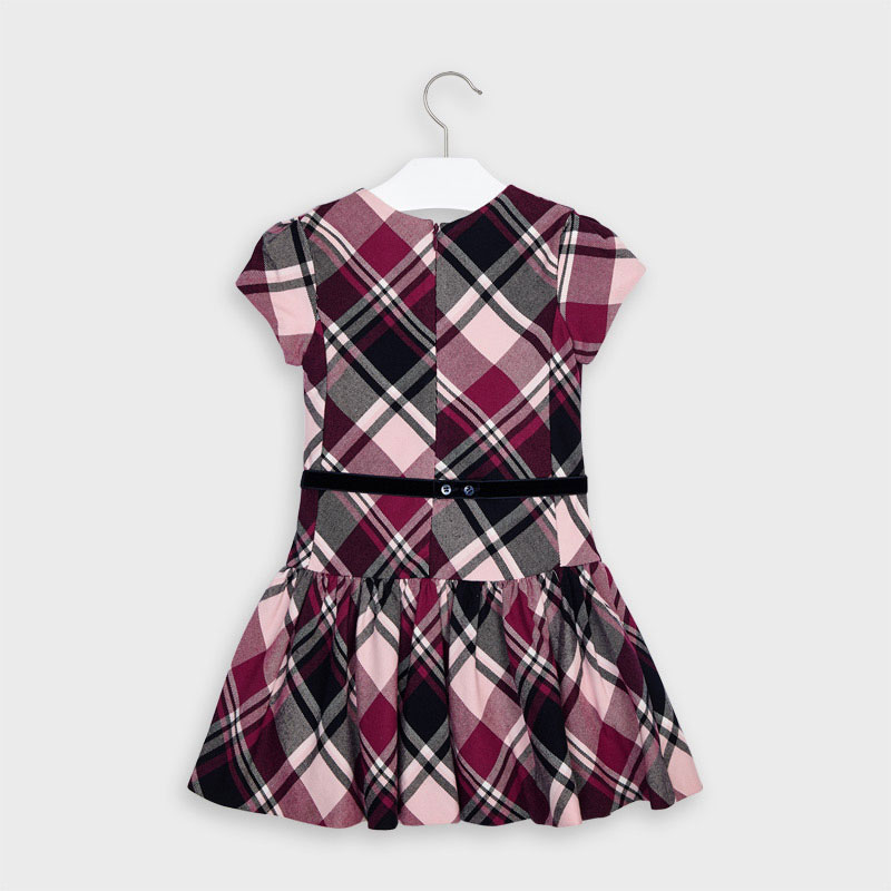 Mayoral Checked Dress-(Cherry 4974) (was £43)
