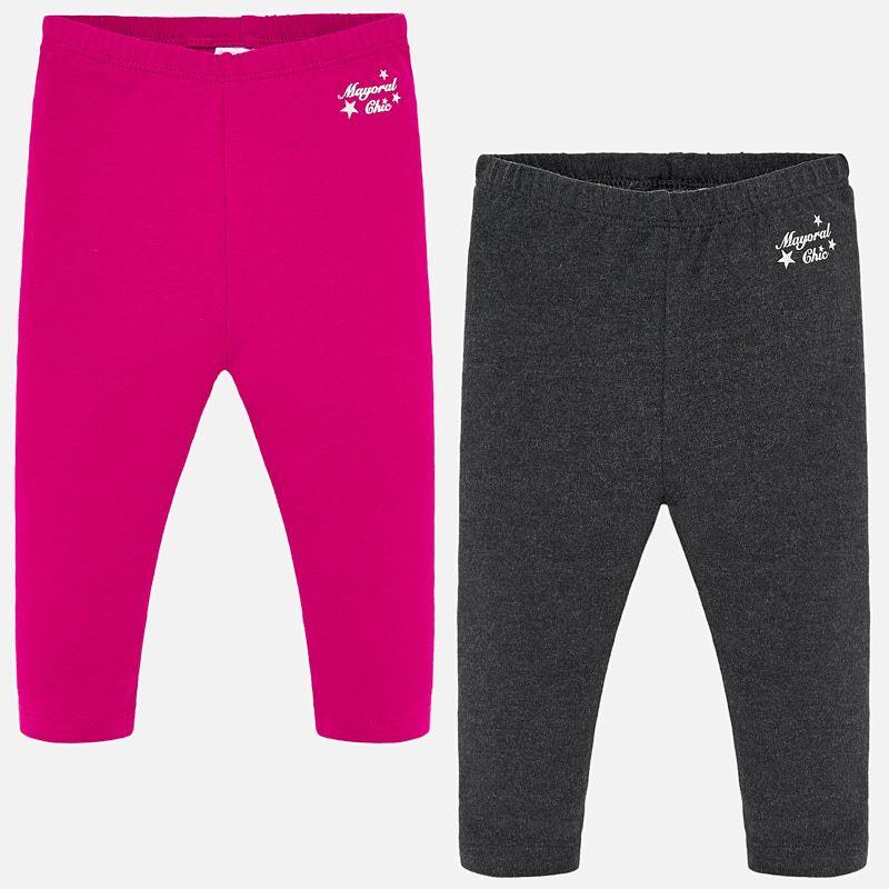 WAS £15.50 Mayoral 2 Pack Leggings Pink/Grey (702)