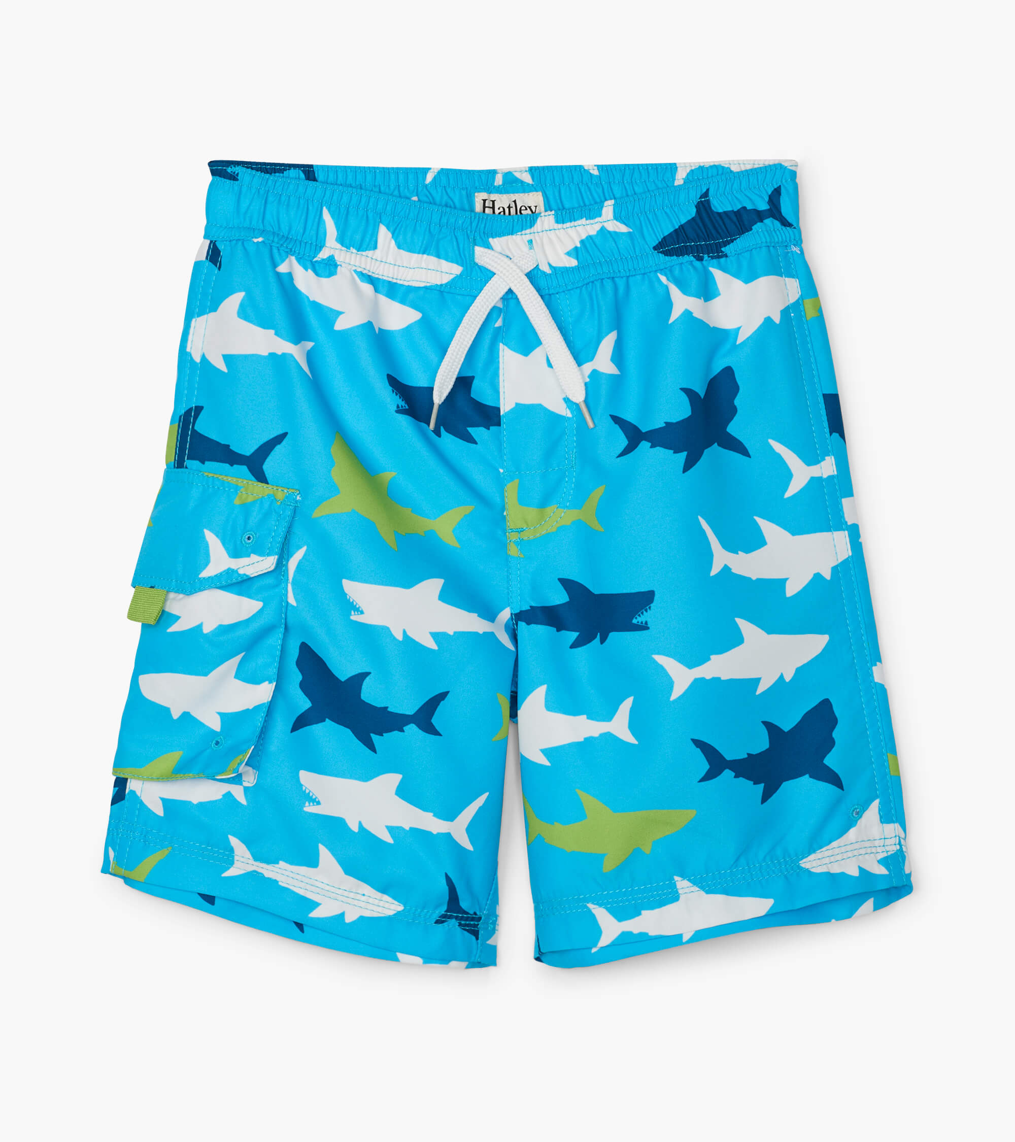 Hatley Great White Sharks Swim Trunks