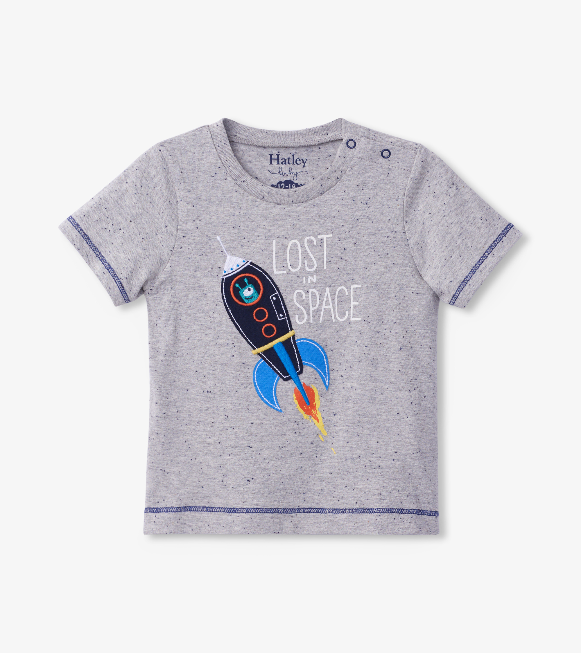 Hatley Space Rocket Glow In The Dark Baby Graphic Tee