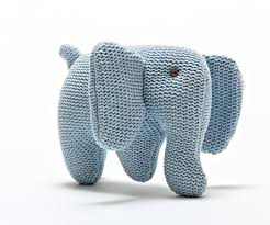 Best Years Knitted Organic Elephants