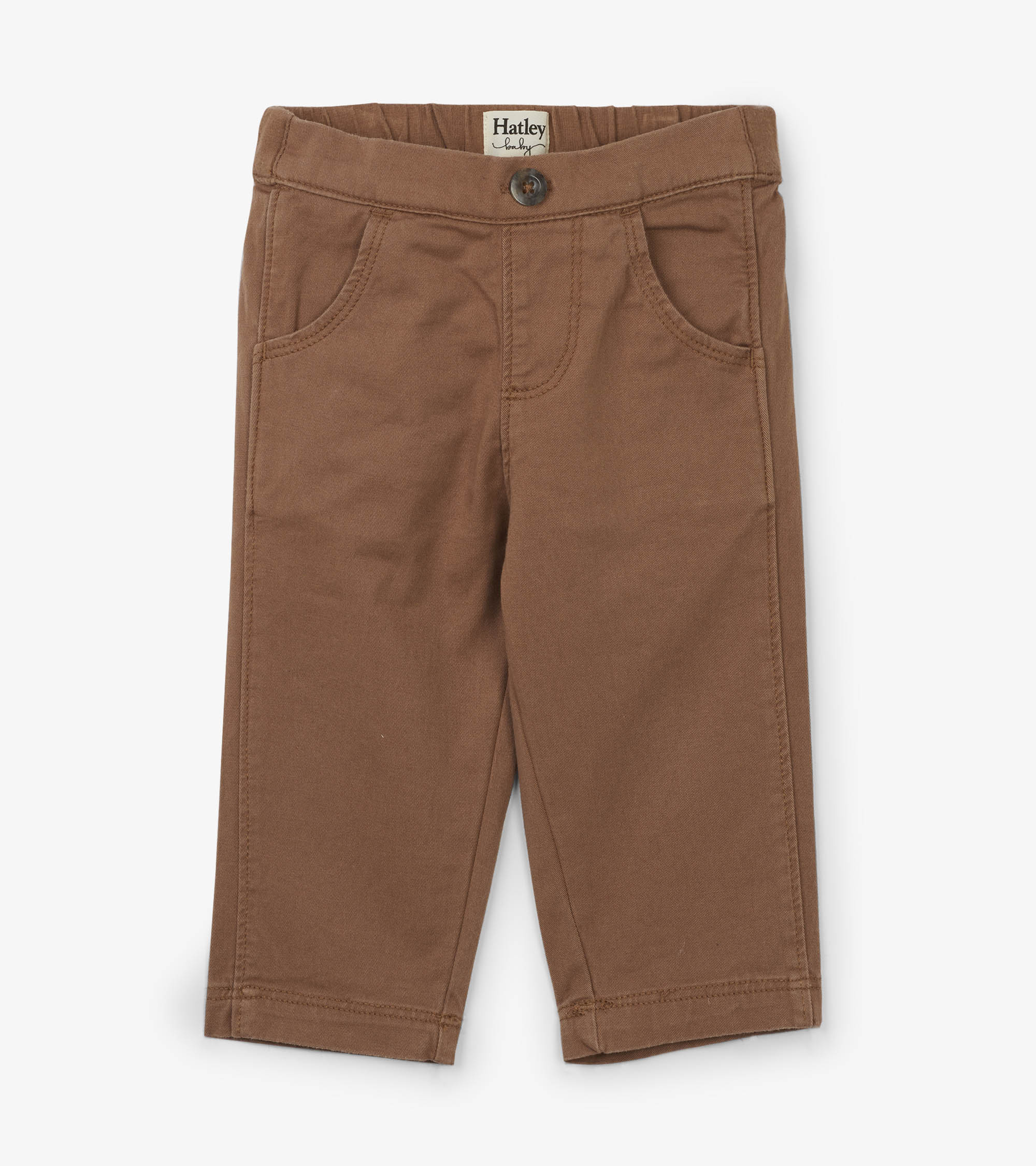 NOW £11  Hatley - Tan Baby Trousers (Was £22)