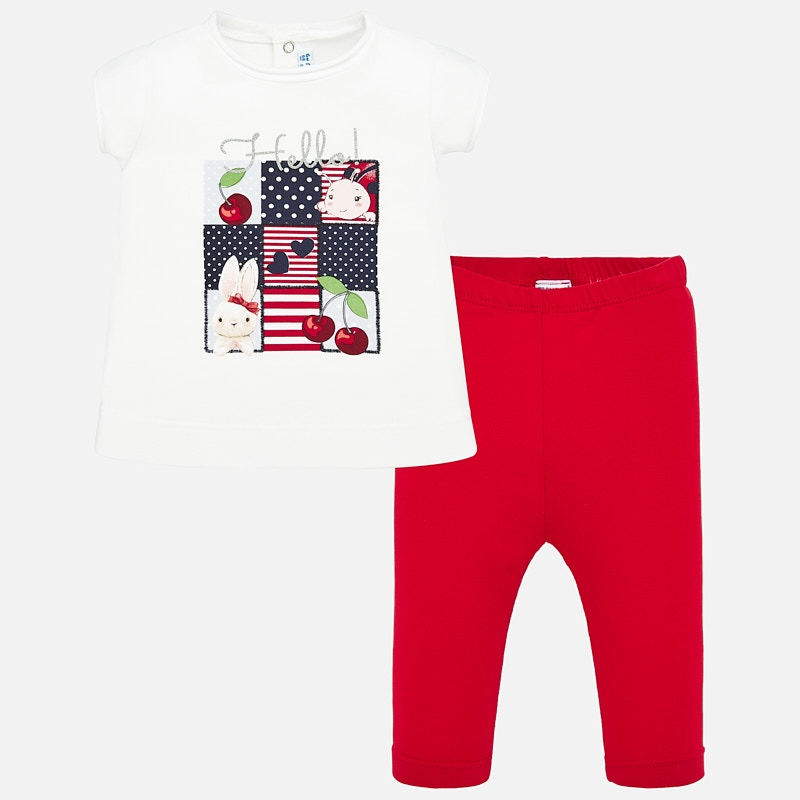 NOW £20 Mayoral T-Shirt & Leggings Set Red (1714)