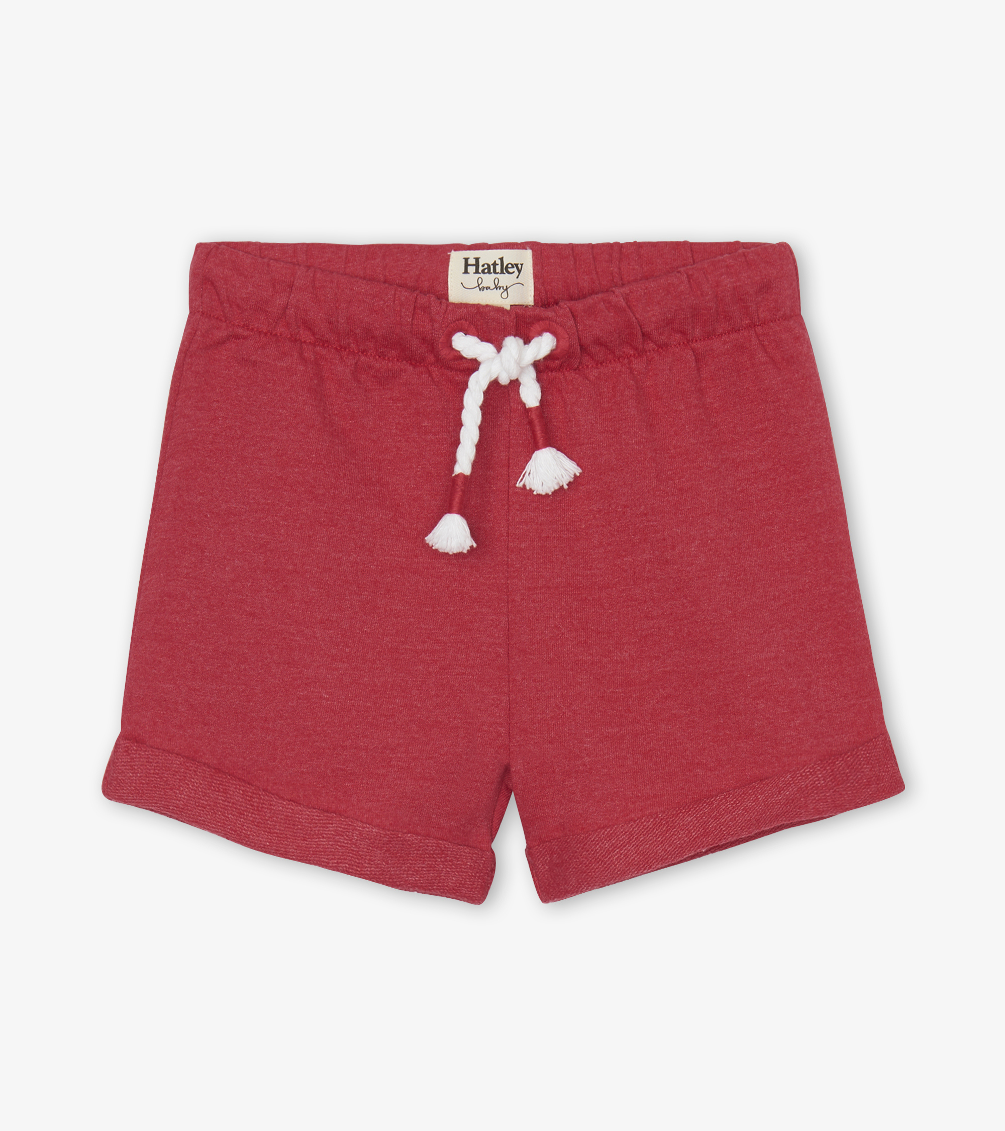 Hatley French Terry Baby Shorts Red