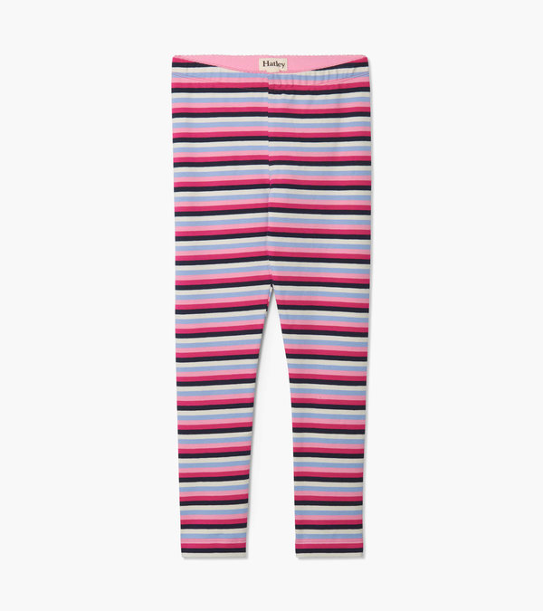 Hatley Denim Stripe Leggings-Pink (Was £18)