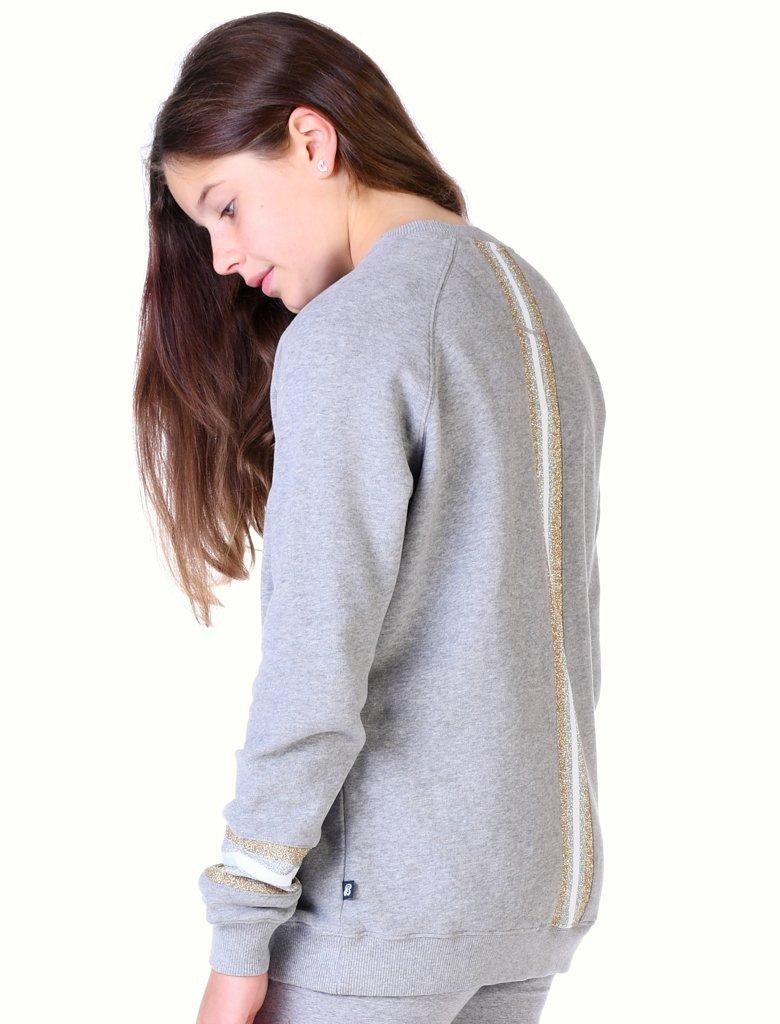 SALE £27.20 St Bert's Reverse Stripe Sweatshirt - Grey (was £34)