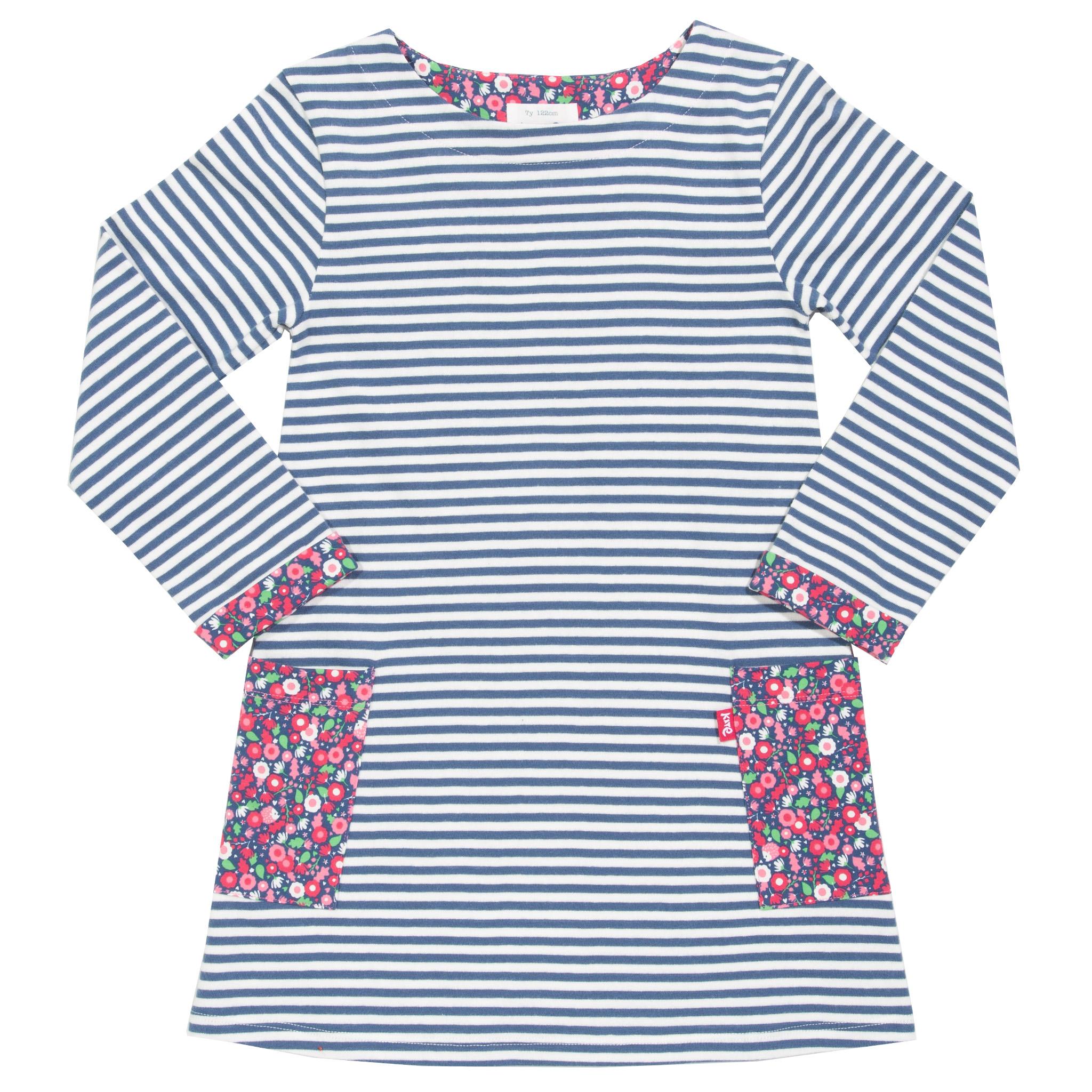 Kite Durdle Door Dress-Navy & White Stripe