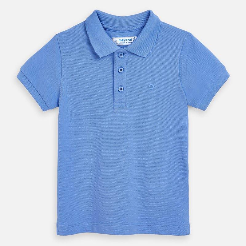 Mayoral Basic Short Sleeve Polo Blue (150)