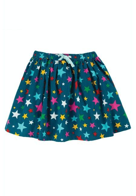 SALE £24.80 Frugi Lizzie Cord Skirt-Rainbow Stars (Was £31)