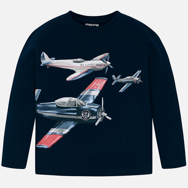 Mayoral Aeroplane Print Top Navy (4023)