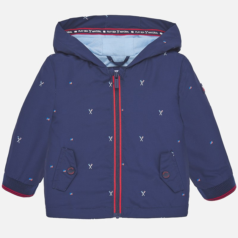 Mayoral Windbreaker Jacket Navy Print (1464)
