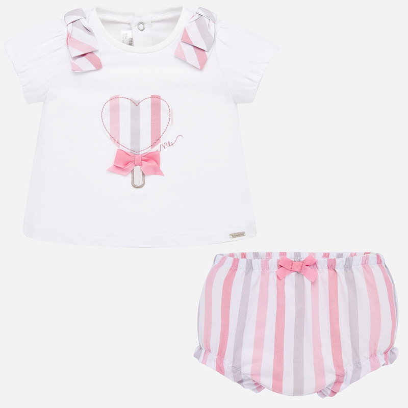 Mayoral T-Shirt & Shorts Set Pink (1138)