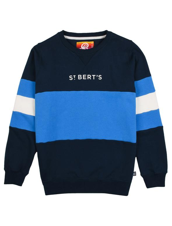 WAS £32.00 St Bert's Arm Stripe Sweatshirt - Dress Blue/Marina Blue