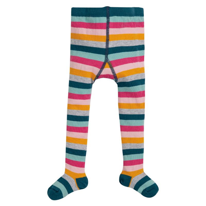 Frugi Little Norah Tights - Cosmic Stripe